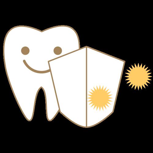 小児歯科のフッ素塗布